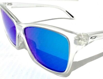 NEW* Oakley HOLD ON Clear Matte frame Blue Sapphire Women's Sunglass 9298-09
