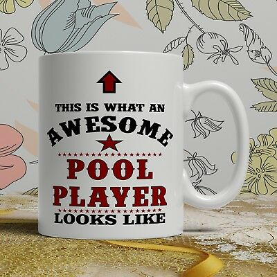 Awesome Pool player birthday gift mug for him her funny novelty present cup