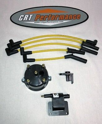 JEEP CHEROKEE TUNE UP IGNITION UPGRADE KIT XJ 1998 1999 4.0L 242 RED CAP NEW