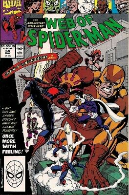 Web of Spider-Man #64 Marvel Comics VF/NM Acts of Vengeance