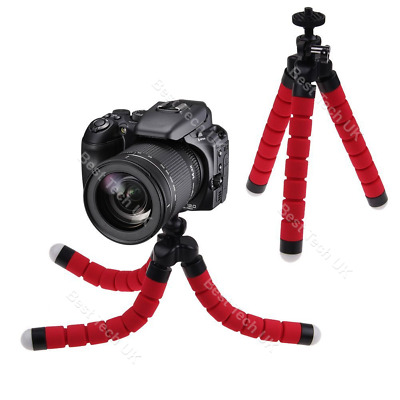 Red Canon Camera DSLR SLR Flexible Tripod Gorilla Octopus Stand Holder 1/4-20