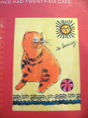 NEW Andy Warhol CATS!!  20 Blank Cat Cards with Magnetic Keepsake Box