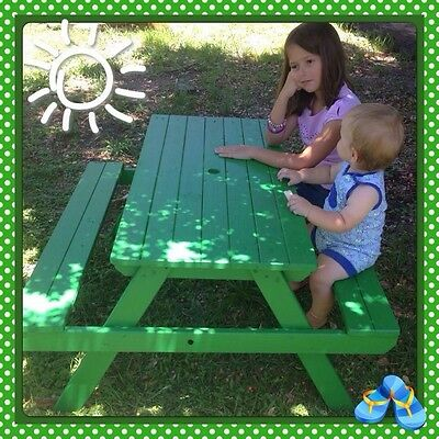 Kids Picnic Table -Pine Wooden Handcrafted Locally Made Brand New!! Garden Toys