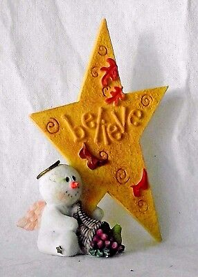 Sarah's Attic Snowonders Believe Sharing Snowman Angel November Leaves Numbered