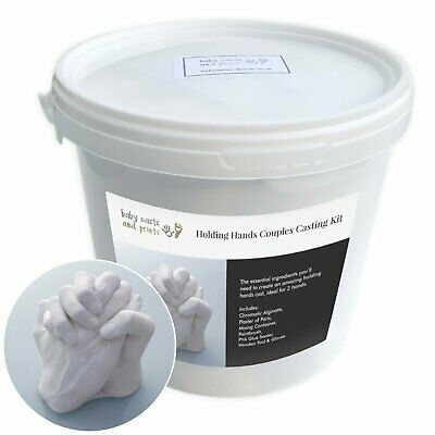 Holding Hands Family 3D Casting Kit -Moulding powder, plaster, mixing tub +tools