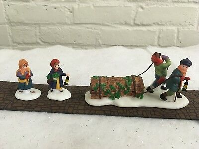 Dept. 56 Dickens Village Bringing Home the Yule Log Accessory #55581 3 Piece Set