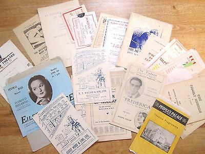 Large & Interesting Selection of Theatre Programmes from the 1940's, + 1930's
