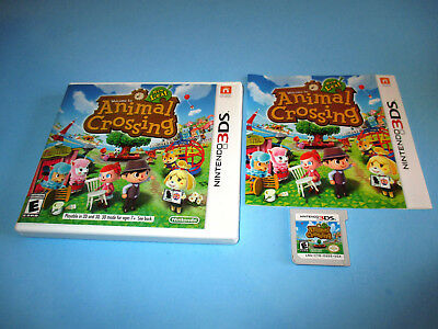 Animal Crossing New Leaf (Nintendo 3DS) XL 2DS Game w/Case & Manual