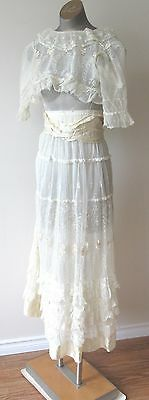 Antique Edwardian Sheer Lace Dress by EATONS