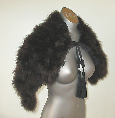 Antique Victorian capelet / stole ostrich or marabou feathers