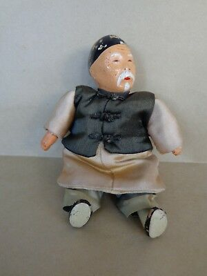 """Vintage MICHAEL LEE   Handmade Chinese Family Dolls  MICALE """" GRAND PA """" NO. 201"""