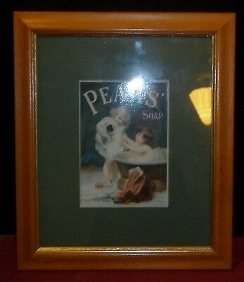 Vintage Framed Pears Soap Advert  Excellent Condition