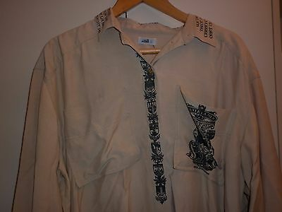 Vintage Jag Heraldic Print Womens Shirt Size L  Excellent Condition