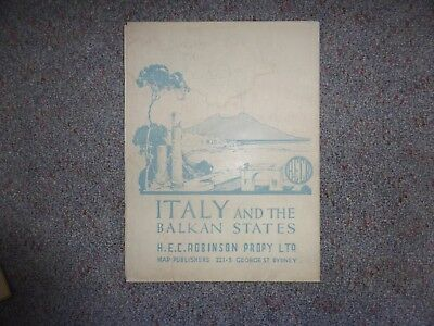 Vintage Map Italy & the Balkan States - HEC Robinson - Sydney