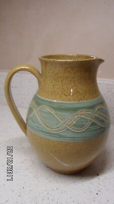 Holkham Pottery, Norfolk,  Stoneware Jug, Signed by Cyril Ruffles