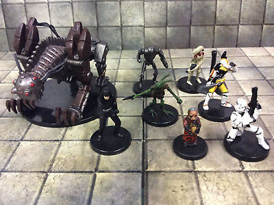 Star Wars assortment of 8 pre painted miniatures