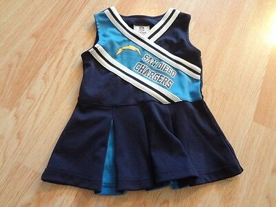 Toddler Girls San Diego Chargers 2T Cheerleader Cheer Outfit Dress NFL Team Appa