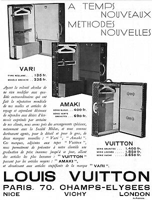 *** LOUIS VUITTON - VARI, AMAKI & VUITTON *** 1933 - pub. (24,5 x 32,5) // p134