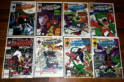 Amazing Spider-Man Todd Mcfarlane Comic Book Lot #308-309, 312-315, & 318-319