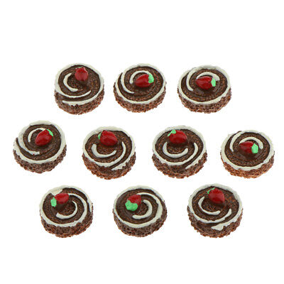 10X Chocolate Mousse Dollhouse Miniature Bakery Food Accessory 1/12 Scale