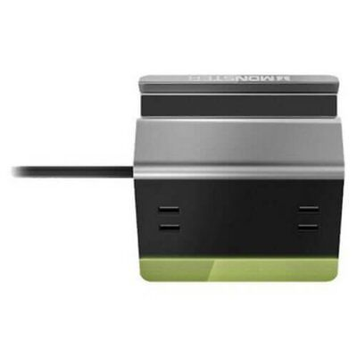 Monster Power Small Home Charging Station-4 USB Ports, Phone + Tablet Stand, 6'