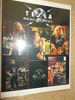 Tesla 8 1/2 X 11 Color Photo Signed By All 5 Members In October Of 2008