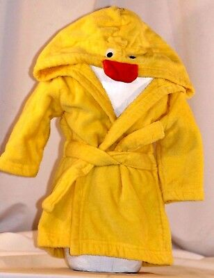 Carter's Kid's Duck Robe Yellow Size 0-9 Months Terrycloth Front Tie