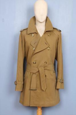 Superb Mens BURBERRY Double Breasted Short TRENCH Coat Mac Brown Size 44/46