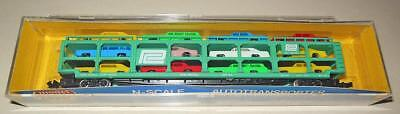 N Scale TRIPLE DECK CAR CARRIAGE  PENNCENTRAL RR AS NEW BY MODEL POWER W RAPIDOS