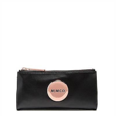 BNWT MIMCO Mim Large Black Fold Wallet with Rose Gold  RRP $179