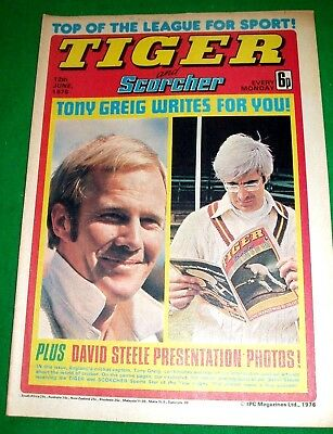 Tiger 12/6/1976  With Stunning David Steele Of Northants Ccc Centrefold  Poster