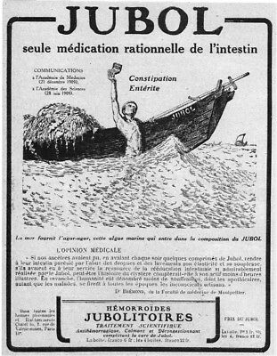 *** JUBOL _ médication rationnelle de intestin *** 1919 - pub. (14 x 18) // a121