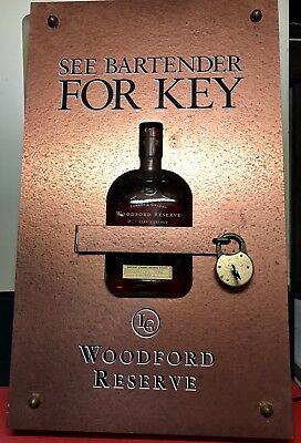 Rare Steampunk style Woodford bourbon lightbox display from Jack Daniels family