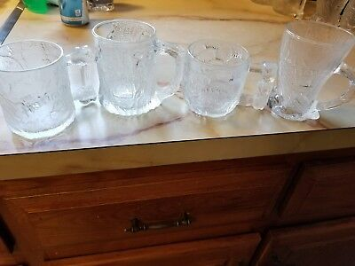 The Flintstones The Movie 1993 RocDonalds McDonalds Glasses Set of 4 Unused