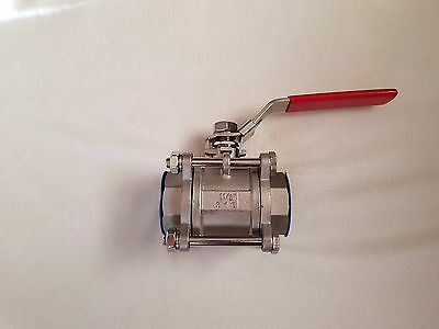 """1 1/2"""" 316 Stainless Steel Ball Valve 1000 Wog Free"""