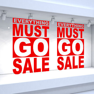 Window Banner Poster 3 x SHOP SALE POSTER
