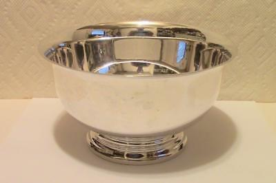 """GORHAM SOLID STERLING SILVER 7 1/4"""" BOWL AFTER  PAUL REVERE  574 g. NOT SCRAP!"""