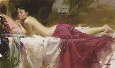 Pino Daeni,Hand-painted Portrait oil Painting On Canvas 24x36#66/Unframed