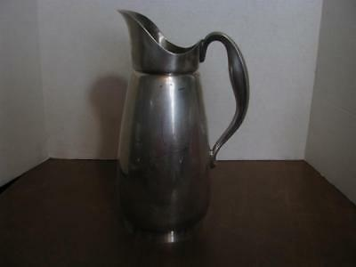 """Reed and Barton Silver Plate Water Pitcher With Ice Strainer 10"""""""