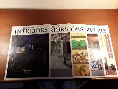 World of Interiors x 5. July to December  1985 .July and August combined