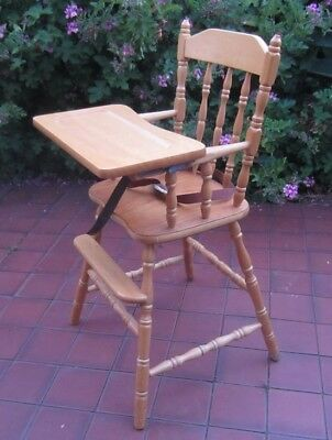 Wooden Colonial High Chair Removable Tray, Country Kitchen Style, Ashwood, Melb