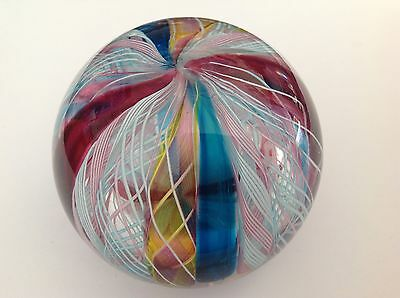 Italian Murano / Venetian Crown Art Glass Paperweight