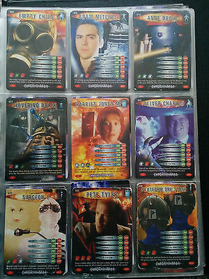 Dr Who Battles In Time folder with approx 154 cards