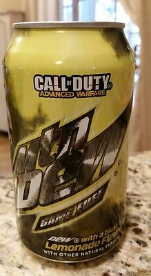 2014 Mountain Dew Game Fuel Lemonade Call of Duty Advanced 12oz can NEW unopened
