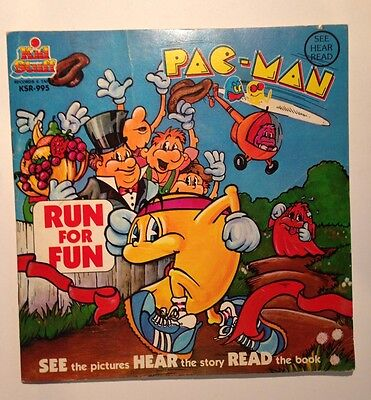 Vintage Pac Man Run For Fun See Hear Read Softcover Book W 33 Rpm Record