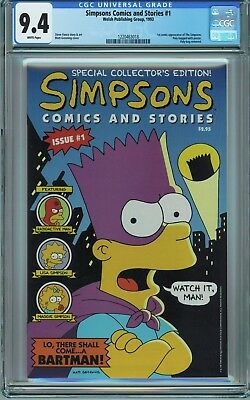 Simpsons Comics and Stories #1 CGC 9.4 NM Welsh 1993 1st Simpsons