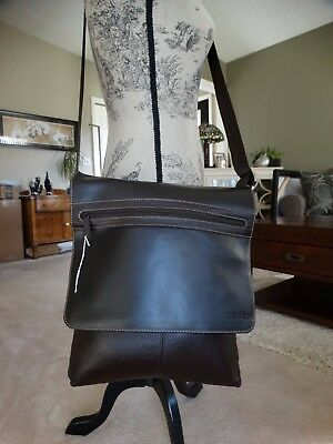 Nwot Del Rio Cowhide Leather Lap Top/cross Body Bag