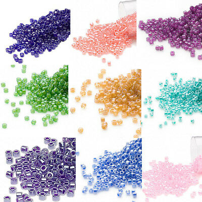 1200 Miyuki Delica #11 Opaque Glass Seed Beads 11/0 COLOR LINED  7.2 Grams