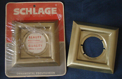 Schlage Ornamental Escutcheon Georgian Design Brass Finish 606 Lot of 2 Canada