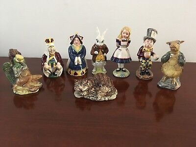 Royal Doulton Beswick Alice In Wonderland Series Lot (8) Figurines